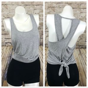 Gray tie gym active tank top size XS NWOT